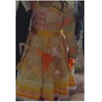 Vestido festa junina 3/4 anos - 3 anos - Não informada