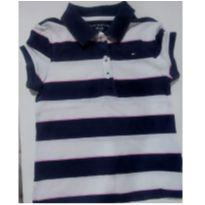 Camisa Polo Tommy listrada 6/7 anos - 6 anos - Tommy Hilfiger