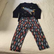 3 pijamas de malha manga longa - 3 anos - Kyly
