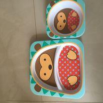 Conjunto de pratos zoo Porco Espinho Skip Hop -  - Skip Hop