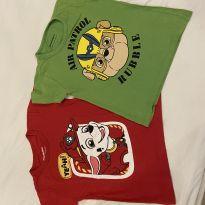 2 Camisetas Patrulha Canina - 3 anos - Riachuelo