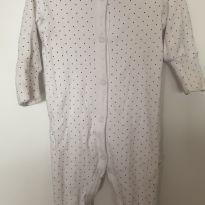 Macacão pijama poá - 3 a 6 meses - Baby Way