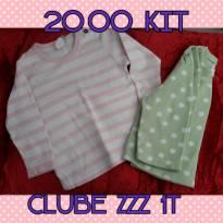 Kit 2 blusas manga longa em Fleece - Clube Zzz 12M - 12 a 18 meses - clube z