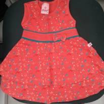 Vestido BG - acho que serve 9 a 12 meses - 9 a 12 meses - Abrange