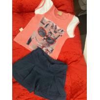 Conjunto Camiseta  e Shorts - 2 anos - 2 anos - Nacional