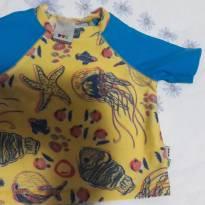 Camiseta Proteção UV -  G 9 a 12 meses PUC - 9 a 12 meses - PUC