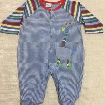 Macacão em Malha - Baby Fashion - Tamanho P - 0 a 3 meses - Baby fashion