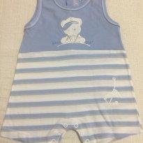 Macacão Curto e sem Mangas - Tamanho P - 0 a 3 meses - Baby fashion