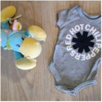 Body Red Hot Chili Peppers cinza 0a3 meses - 0 a 3 meses - Riachuelo