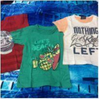 Kit camisetas - 2 anos - Diversas