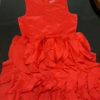 Vestido vermelho tamanho 12 anos importado - 12 anos - H&M
