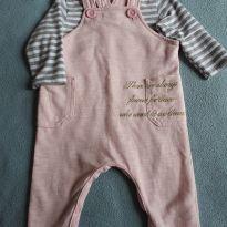 Conjunto blusa e macacão jardineira - 3 a 6 meses - Baby Way