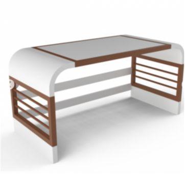 Berço modelo Zlin em MDF / madeira maciça e pés palito (retrô) + colchão - Sem faixa etaria - Sleeper