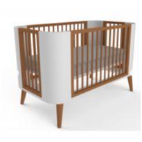 Berço modelo Zlin em MDF / madeira maciça e pés palito (retrô) + colchão -  - Sleeper