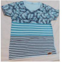 Camiseta azul - 2 anos - sem etiqueta