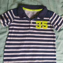 Camiseta polo listrada - 24 a 36 meses - Carter`s