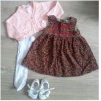 Conjunto vestido e bolero - 9 meses - Zara Baby