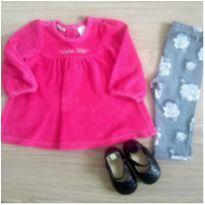 Conjunto rosa Ck - 6 a 9 meses - Calvin Klein