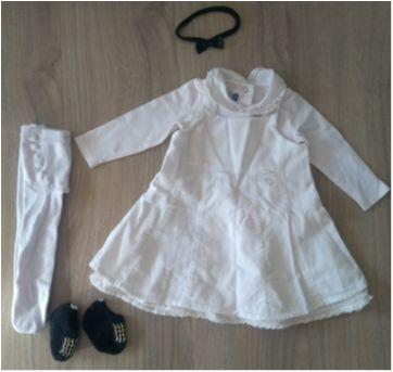 Vestido de veludo Chicco - 6 meses - Chicco