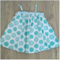 Vestido de bolinhas azul - 9 a 12 meses - Baby Gap