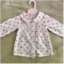 Blusa social Gola boneca - 3 a 6 meses - Renner