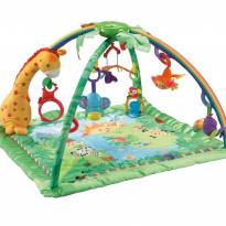 TAPETE DE ATIVIDADES FISHER PRICE RAINFOREST MELODIES & LIGTHS DELUXE -  - Fisher Price