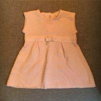 VESTIDO TRICOT ROSA PÉROLA - MILLY BABY - 9 a 12 meses - Milly Baby