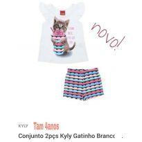 Conjunto menina - 4 anos - Tricae