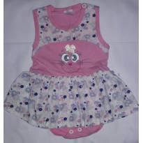 Vestido body baby - 0 a 3 meses - l baby