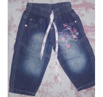 Calça Jeans Baby - 3 a 6 meses - lilly kids