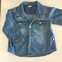 Camisa jeans - 12 a 18 meses - Teddy Boom
