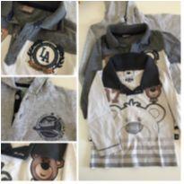 Lote camisetas - 12 a 18 meses - Sem marca e Clube do Dino