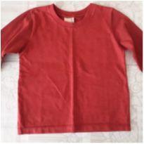 Camiseta manga longa vermelha - 2 anos - Não informada