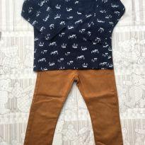 Conjunto com calça jeans - 2 anos - Baby Club