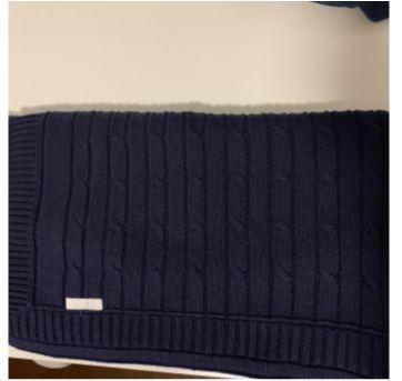 Manta em tricô azul marinho - Sem faixa etaria - Lilibee