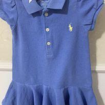 Vestido Polo azul - 6 meses - Ralph Lauren