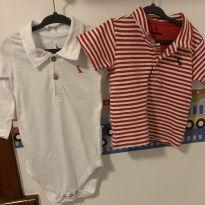 Kit com 1 body e 1 camisa polo da Reserva - 9 a 12 meses - Reserva mini