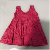 Vestido Rosa/Pink - Bolinhas Pretas - 3 a 6 meses - cea e outro