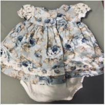 Vestido Florido com Body - Tam: M - 3 a 6 meses - minyattura