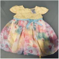 Vestido Festa Floral - Amarelo + Colorido - 3 a 6 meses - Sweet Heart Rose