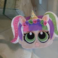 Estojo multiuso lol unicornio - Sem faixa etaria - Não informada