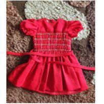 Vestido vermelho - 24 a 36 meses - Não informada