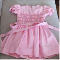 Vestidinho rosa princesa - 1 ano - Não informada