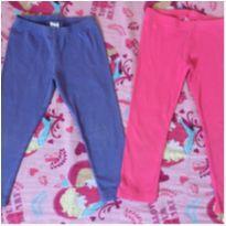 Duas calças legging carters e gymboree - 2 anos - Carter`s e Gymboree