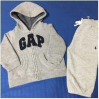 Blusa Gap e calça Polo Ralph Lauren - 9 meses - Ralph Lauren e Baby Gap