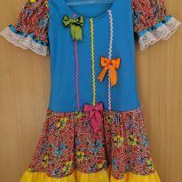 Vestido Festa Junina Tam. 4 - 4 anos - Não informada