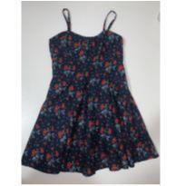 Vestido azul marinho florido - 6 anos - Palomino