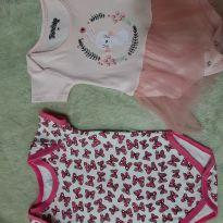 Kit body - 3 a 6 meses - Disney e Trenzinho