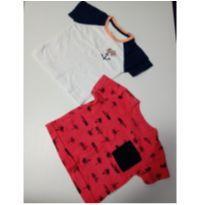 Kit camiseta - 3 a 6 meses - Sem marca