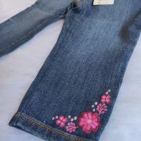 Calça Jeans Gymboree 12/18 meses Com Etiqueta - 12 a 18 meses - Gymboree